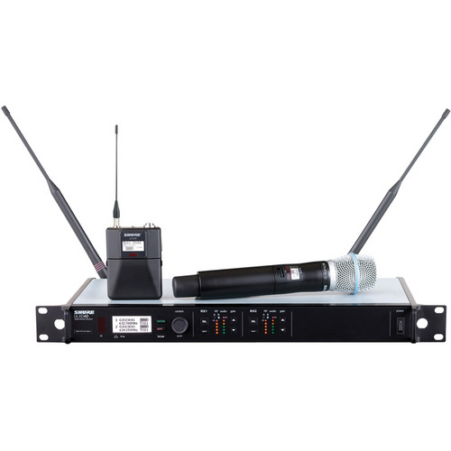 Shure ULXD124D Dual-Channel Combo Wireless System with Beta 87A Microphone - H50 (534 to 598 MHz)