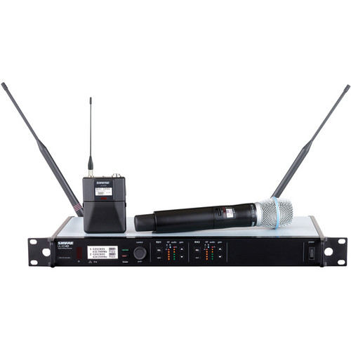 Shure ULXD124D/B87C Dual-Channel Combo Wireless System (H50: 534 - 598 MHz)