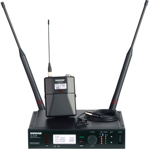 Shure ULXD Lavalier UHF Wireless Kit (MX150 Microphone, G50: 470 to 534 MHz)