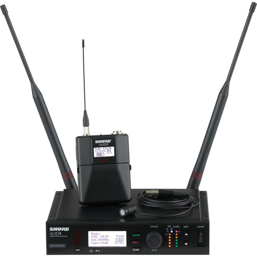 Shure ULXD UHF Wireless Lavalier Kit (WL183, L50: 632 - 696 MHz)