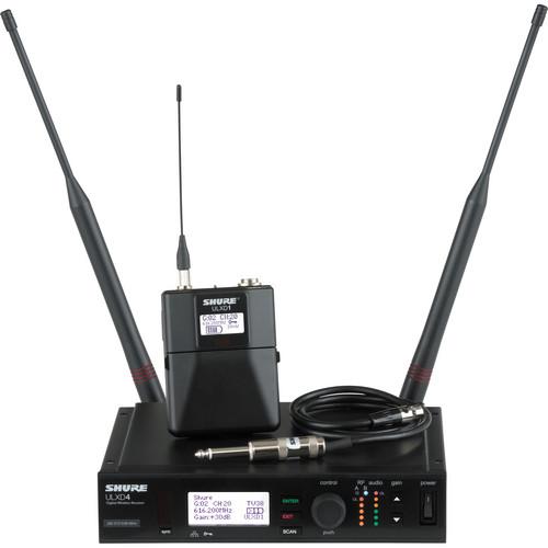 Shure ULXD UHF Bodypack Instrument Kit (H50: 534 to 598 MHz)