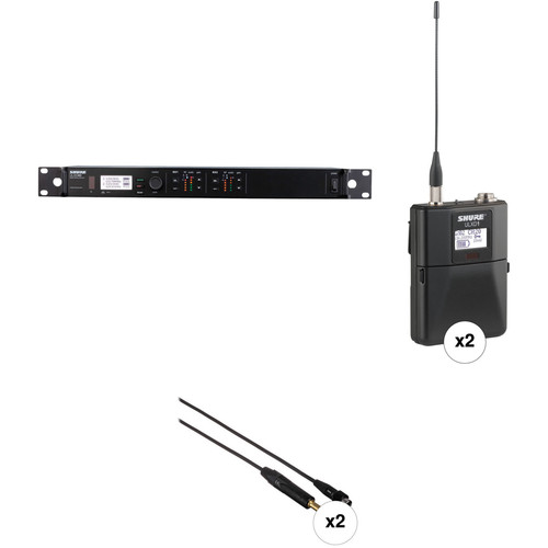 Shure ULX-D Digital Wireless Bodypack Kit for 2 Instruments (H50: 534 to 598 MHz)