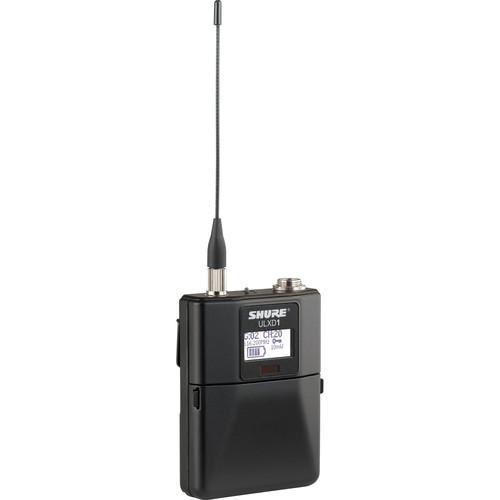 Shure ULXD1 Digital Wireless Bodypack Transmitter with TA4M (X52: 902 to 925 MHz)