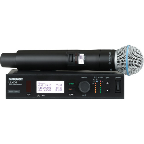 Shure ULXD Handheld UHF Wireless System (Beta 58A Capsule, 470 to 534 MHz)