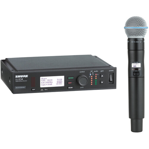 Shure ULXD Handheld UHF Wireless System (Beta 58A Capsule, 534 to 598MHz)