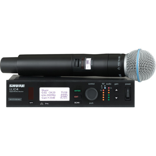 Shure ULXD Handheld UHF Wireless System (Beta 58A Capsule, 632 to 696 MHz)