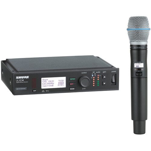 Shure ULX-D Digital Wireless Handheld Microphone Kit with Beta 87A Capsule (H50: 534 to 598 MHz)