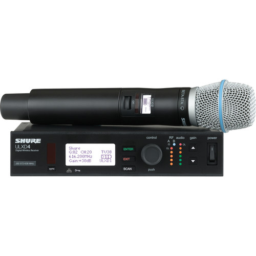 Shure ULXD Handheld UHF Wireless System (Beta 87A Capsule, L50: 632 to 696 MHz)