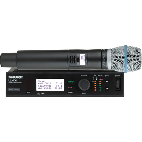 Shure ULXD Handheld UHF Wireless System (Beta 87C Capsule, L50: 632 to 696 MHz)