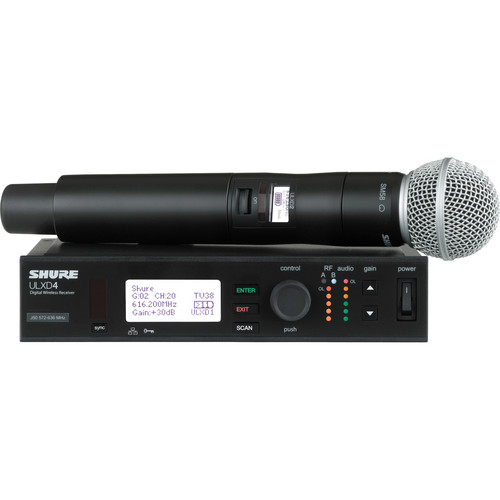 Shure ULX-D Digital Wireless Handheld Microphone Kit with SM58 Capsule (H50: 534 to 598 MHz)