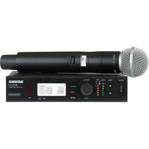 Shure ULXD Handheld UHF Wireless System (SM58 Capsule, L50: 632 to 696 MHz)