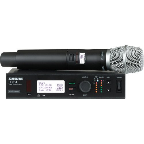 Shure ULX-D Digital Wireless Handheld Microphone Kit with SM86 Capsule (G50: 470 to 534 MHz)
