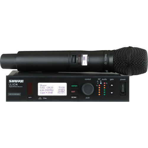 Shure ULX-D Digital Wireless Handheld Microphone Kit with SM87A Capsule (G50: 470 to 534 MHz)