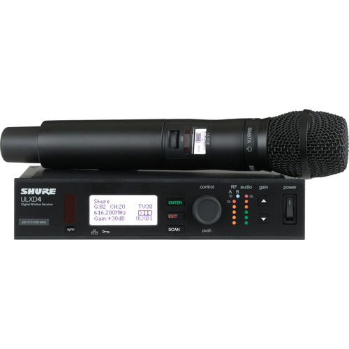 Shure ULXD Handheld UHF Wireless System (SM87A Capsule, L50: 632 to 696 MHz)