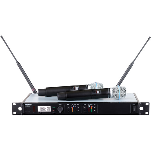 Shure ULXD Dual-Channel Handheld UHF Wireless Kit (Beta 87A, G50: 470 to 534 MHz)