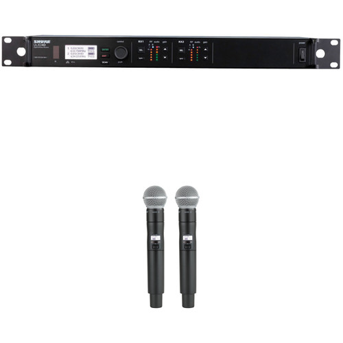 Shure ULX-D Dual Channel Digital Wireless Handheld SM58 Kit (H50: 534 to 598 MHz)