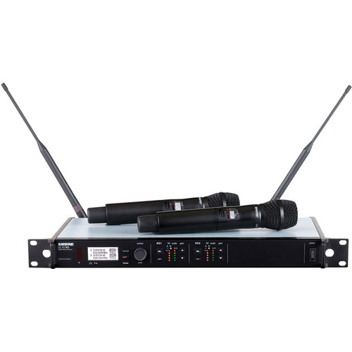 Shure ULXD24D/SM87 Dual Channel Handheld Digital Wireless Microphone System (L50 Band)
