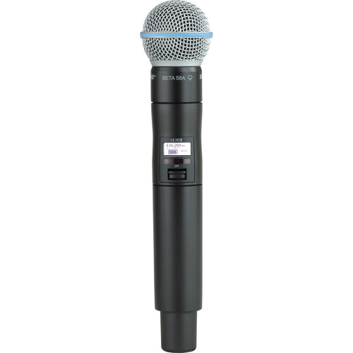 Shure ULXD2/B58 Digital Handheld Wireless Microphone Transmitter with Beta 58A Capsule (H50: 534 to 598 MHz)