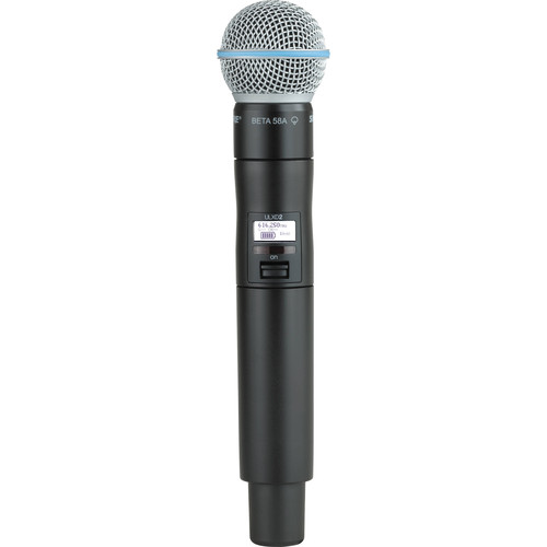 Shure ULXD2/B58 Digital Handheld Wireless Microphone Transmitter with Beta 58A Capsule (J50: 572 to 608 + 614 to 616 MHz)