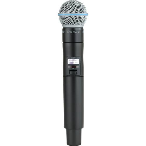 Shure ULXD2 VHF Handheld Transmitter with Beta 58A Microphone Capsule (V50)