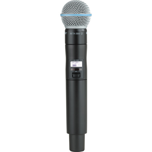 Shure ULXD2/B58 Digital Handheld Wireless Microphone Transmitter with Beta 58A Capsule (X52: 902 to 928 MHz)