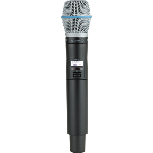 Shure ULXD2/B87A Digital Handheld Wireless Microphone Transmitter with Beta 87A Capsule (H50: 534 to 598 MHz)