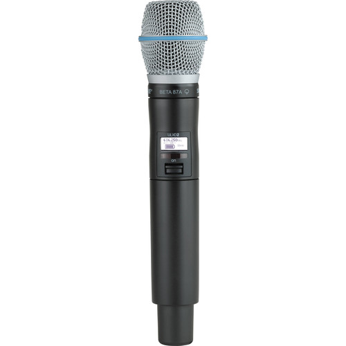 Shure ULXD2/B87A Digital Handheld Wireless Microphone Transmitter with Beta 87A Capsule (J50A: 572 to 608 + 614 to 616 MHz)