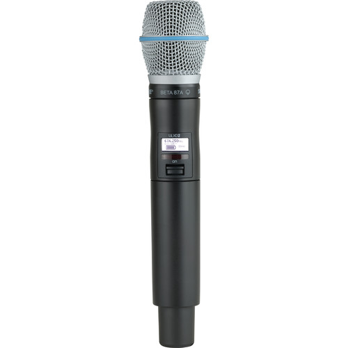 Shure ULXD2 VHF Handheld Transmitter with Beta 87A Microphone Capsule (V50)