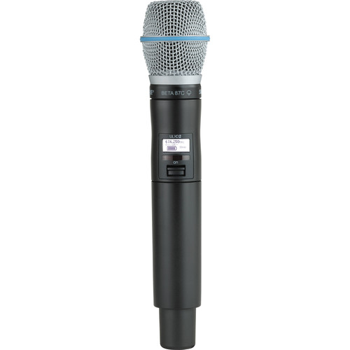 Shure ULXD2/B87C Digital Handheld Wireless Microphone Transmitter with Beta 87C Capsule (J50A: 572 to 608 + 614 to 616 MHz)