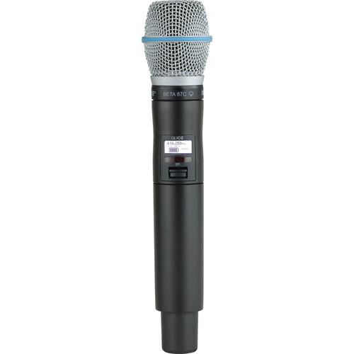 Shure ULXD2 VHF Handheld Transmitter with Beta 87C Microphone Capsule (V50)
