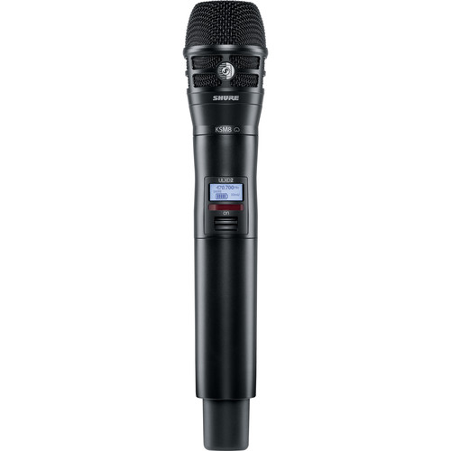 Shure ULXD2/K8B Handheld Transmitter with KSM8 Mic Capsule (H50: 534.000 to 597.920 MHz, Black)