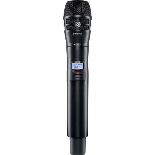 Shure ULXD2/K8B Handheld Transmitter with KSM8 Mic Capsule (J50A: 572 to 608 + 614 to 616 MHz, Black)