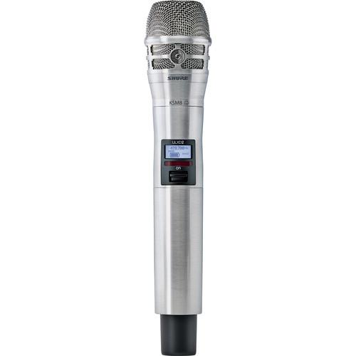 Shure ULXD2/K8N Handheld Transmitter with KSM8 Mic Capsule (G50: 470 to 534 MHz, Nickel)