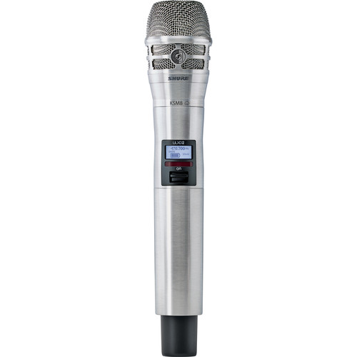 Shure ULXD2/K8N Handheld Transmitter with KSM8 Mic Capsule (H50: 534.000 to 597.920 MHz, Nickel)