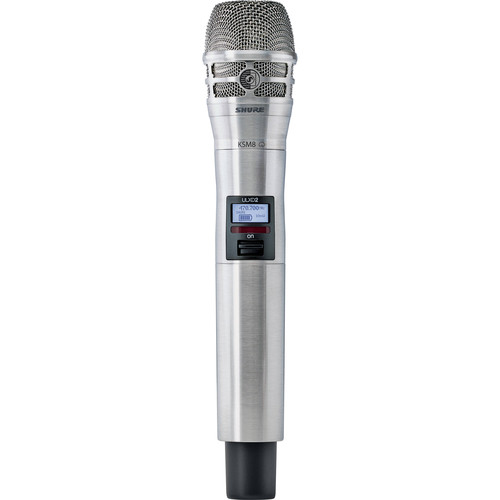 Shure ULXD2/K8N Digital Handheld Wireless Microphone Transmitter with KSM8 Capsule (J50A: 572 to 608 + 614 to 616 MHz)