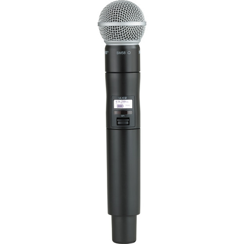 Shure ULXD2/SM58 Digital Handheld Wireless Microphone Transmitter with SM58 Capsule (H50: 534 to 598 MHz)