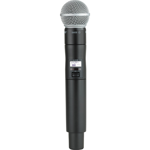 Shure ULXD2/SM58 Digital Handheld Wireless Microphone Transmitter with SM58 Capsule (J50A: 572 to 608 + 614 to 616 MHz)