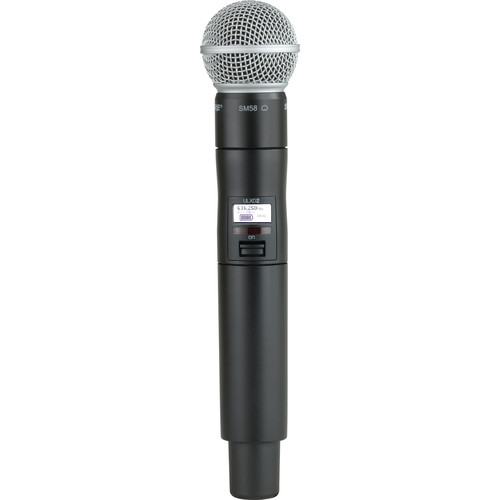 Shure ULXD2/SM58 VHF Digital Handheld Wireless Microphone Transmitter with SM58 Capsule (V50: 174 to 216 MHz)