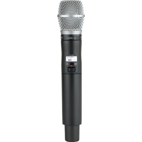 Shure ULXD2/SM86 Digital Handheld Wireless Microphone Transmitter with SM86 Capsule (J50A: 572 to 608 + 614 to 616 MHz)