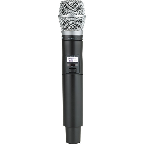 Shure ULXD2 Handheld Transmitter with SM86 Microphone Capsule (X52)