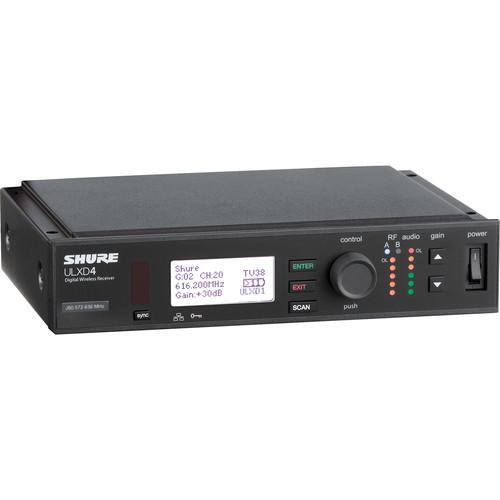 Shure ULXD4 Single-Channel Digital Wireless Receiver (X52: 902 to 928 MHz)