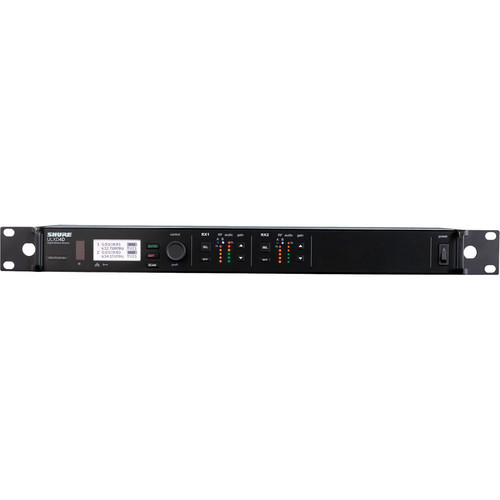 Shure ULXD4D Dual-Channel Digital Wireless Receiver (J50A: 572 to 608 + 614 to 616 MHz)