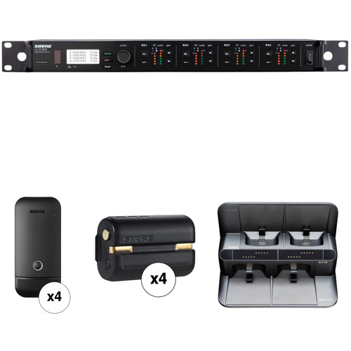 Shure ULXDQ 4-Channel Wireless Receiver and Cardioid Boundary Microphone Kit (G50: 470 to 534 MHz)