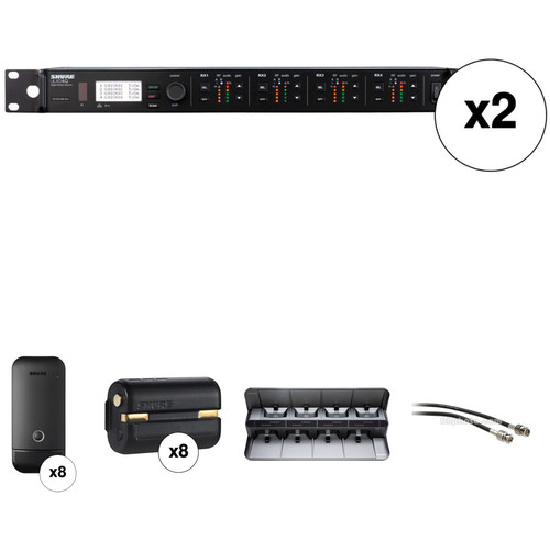 Shure ULXDQ 8-Channel Wireless Receiver and Cardioid Boundary Microphone Kit (G50: 470 to 534 MHz)