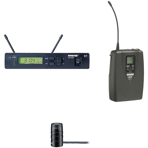 Shure ULX Single-Channel Lavalier UHF Wireless Kit (WL183, J1: 554 - 590 MHz)