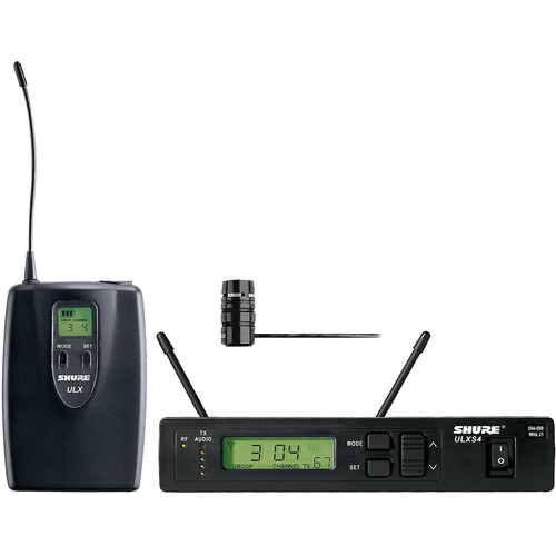Shure ULX Single-Channel Lavalier UHF Wireless Kit (WL184, G3: 470 to 505 MHz)