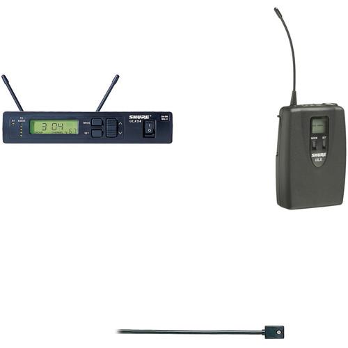 Shure ULX Single Lavalier Mic Multi-Frequency UHF Wireless Kit (WL93, J1: 554 - 590 MHz)