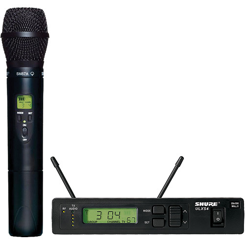 Shure ULX Single-Channel UHF Wireless Handheld Kit (SM87A, J1: 554 - 590 MHz)