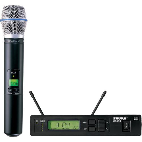 Shure ULX Single-Channel UHF Wireless Handheld Kit (BETA 87A, J1: 554 - 590 MHz)