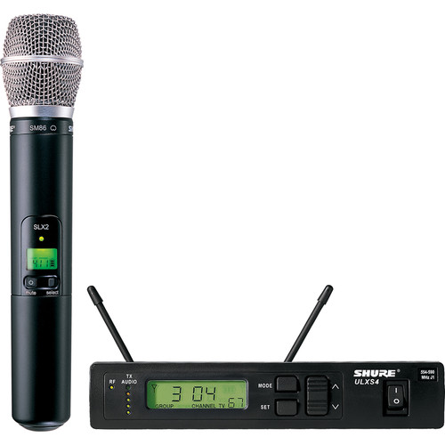 Shure ULX Single-Channel UHF Wireless Handheld Kit (SM86, J1: 554 - 590 MHz)